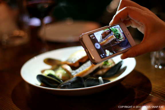 Capturing a shot of the Idaho Red Trout dish