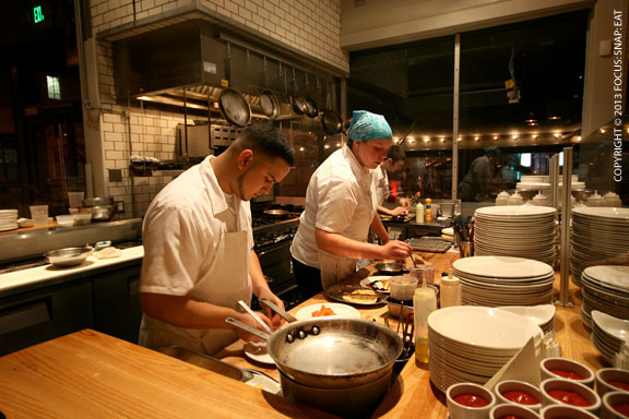 A closer look at the chefs at work