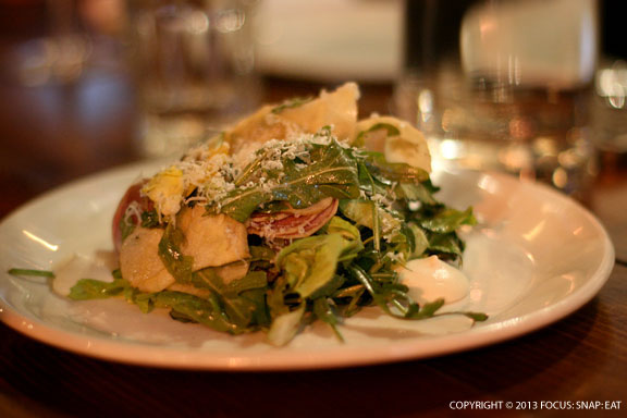 Shaved Winter Salad (root vegetables, celery root, county line chicory, grana padano, balsamic vinaigrette) $8