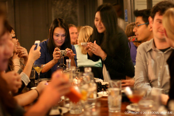 This is what happens at dinner with bloggers ... the photo-taking comes first