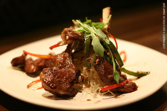 Honey-glazed lamb chops ($24)