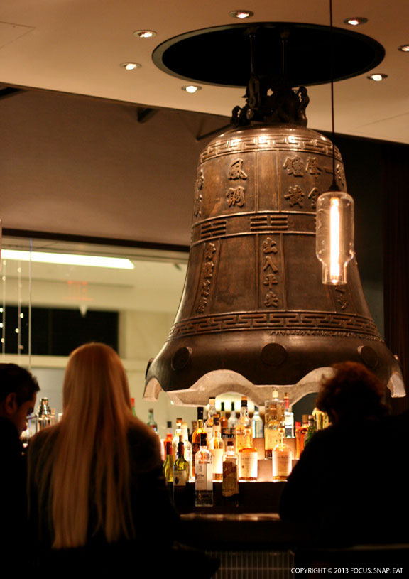 The bar with a 1,800-pound temple bell.