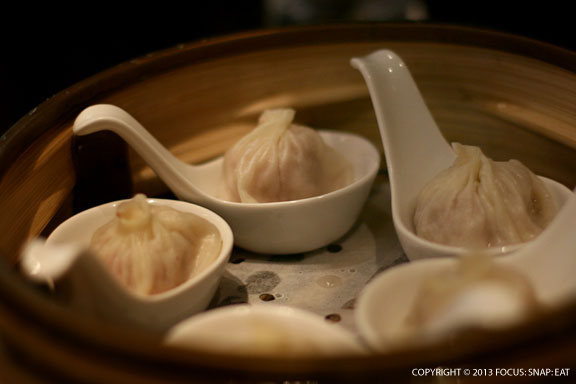 Pork and crab soup dumplings ($12), came in individual soup spoons. The filling was flavorful and the broth wonderful, but the delicate skin was a bit sticky when I picked it up with my chopsticks.