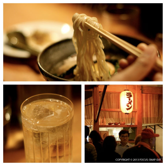 Ramen Shop offers a full restaurant experience with complete bar (pictured is a hi-ball, $12, with Hibiki 12-year Japanese whiskey) and non-noodle dishes.
