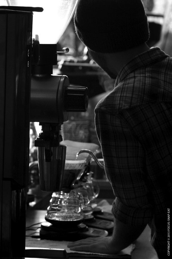 Barista at work