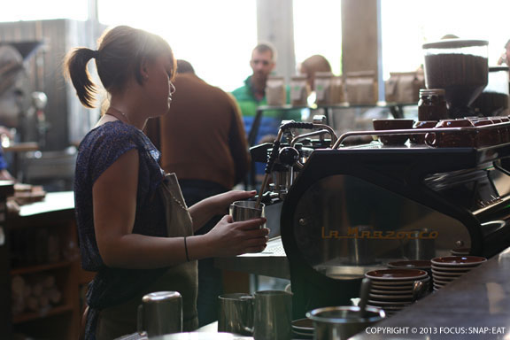 Early afternoon at Sightglass Coffee Bar and Roastery