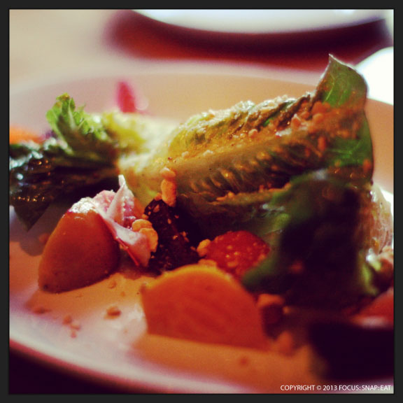 Roasted beet salad ($14) with little gems, avocado, citrus, and hazelnuts