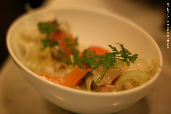 Dungeness crab salad ($13) with fennel and citrus