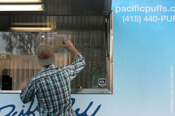 Pacific Puffs food truck preps for the arrival of the Oakland crowd