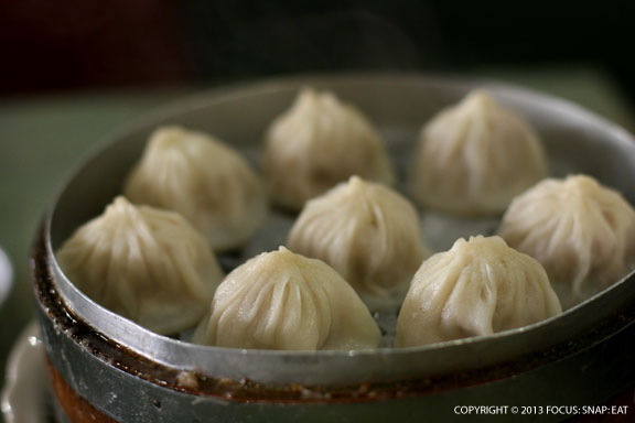 Xiao lung bao (eight for $6.95) with plain pork filling