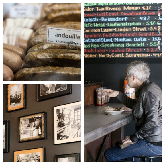 Rosamunde is a small but open space with an eclectic decor