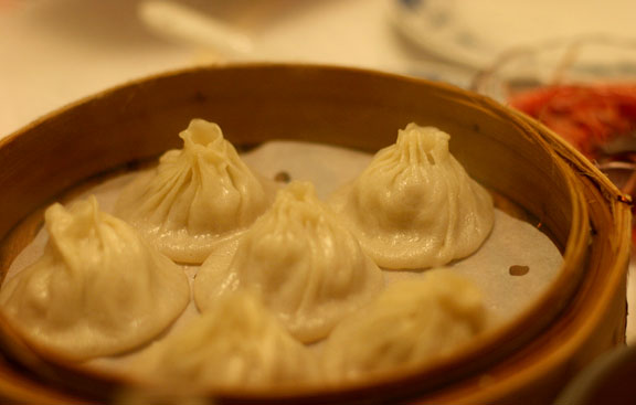 Shanghai soup dumplings with kurobota pork had a delicate broth
