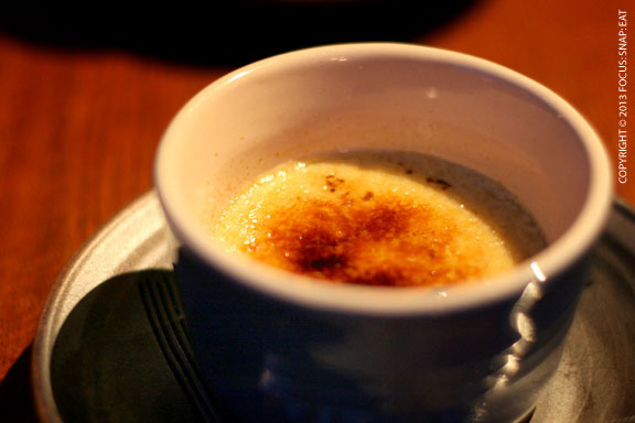 Kojicha crème brulee ($7) had a nice smoky tea flavor but probably could have been more firm in texture