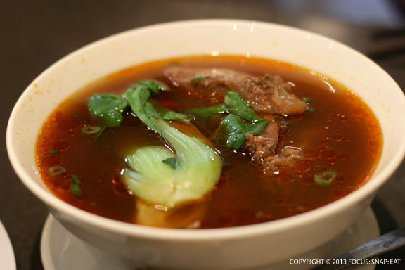 Braised beef with soup noodles ($7.50) is a standard Northern Chinese dish to chase away the chilly weather
