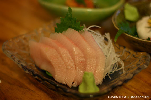 Fresh hamachi sashimi was one of the more popular dishes