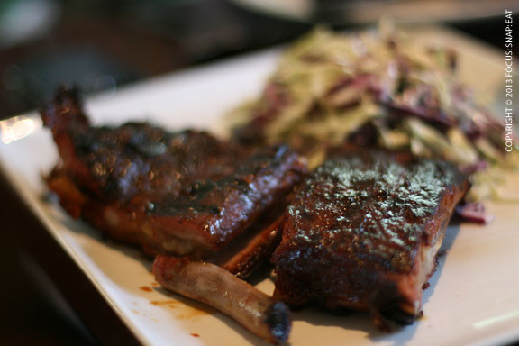 My friend Jason ordered a half rack of the St. Louis ribs with Point Reyes blue cheese coleslaw ($16)
