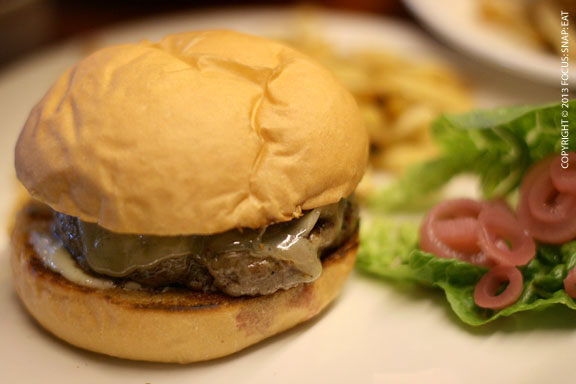 Tavern burger ($14) is decent but nothing special