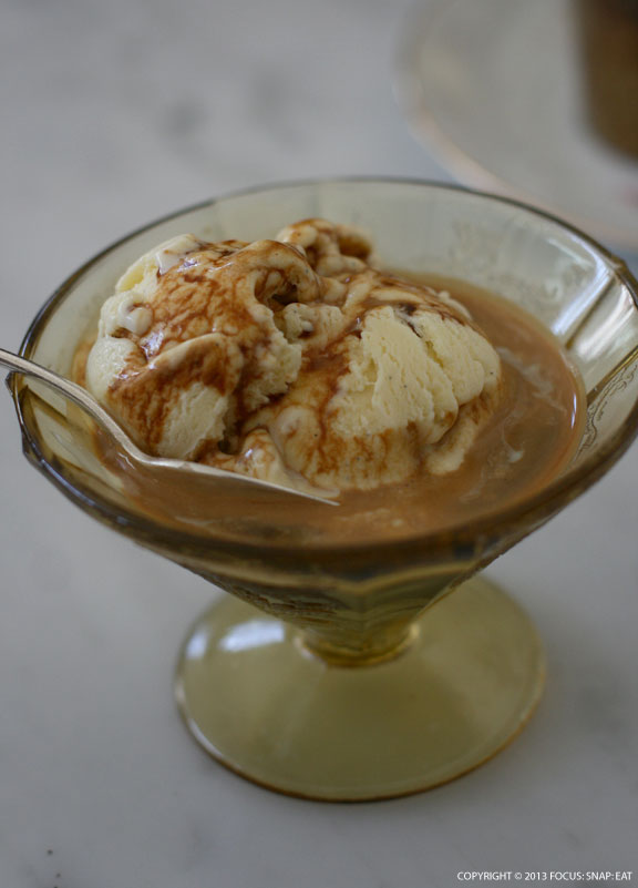 Affogato ($5.50) made with ice cream and espresso.