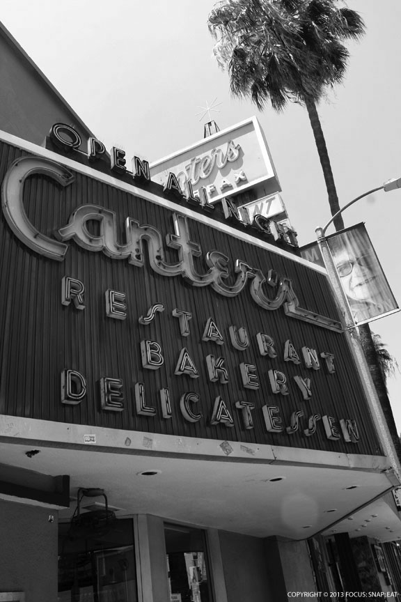The marquee sign outside Canter's on Fairfax
