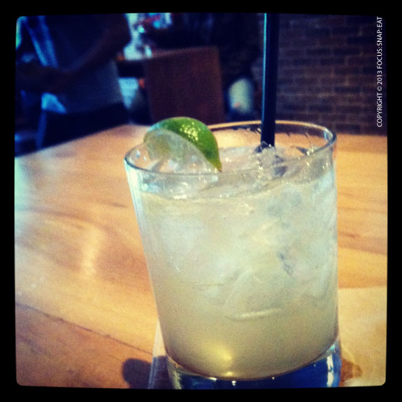 Baby Bull ($8) made with cazadores triple sec and agave lime