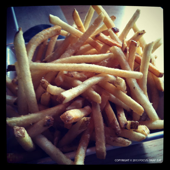 Thin fries, standard issue, $3.50