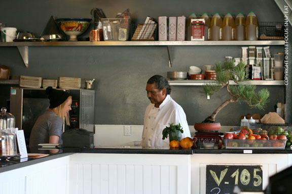 Chef-Owner Daniel Martes busy behind the counter.