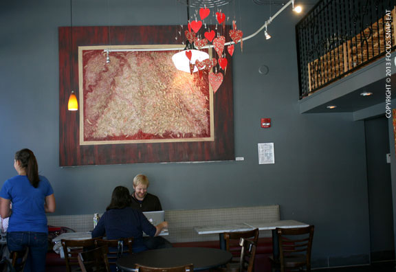 The funky decor of the cafe offers up a fun place for neighborhood regulars to hang out