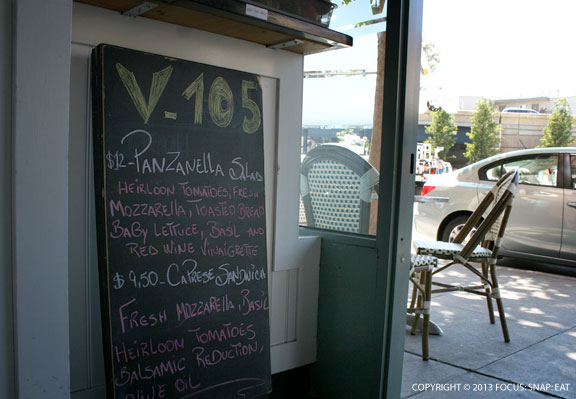 V-105 has a changing menu, offering up something fresh for the area.