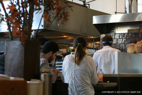 The counter seats are popular for a view of the chefs at work, but this is walk-in only so get early to put your name on the wait list.