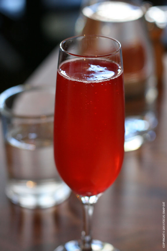 Pomegranate cava ($9) had a brilliant red color