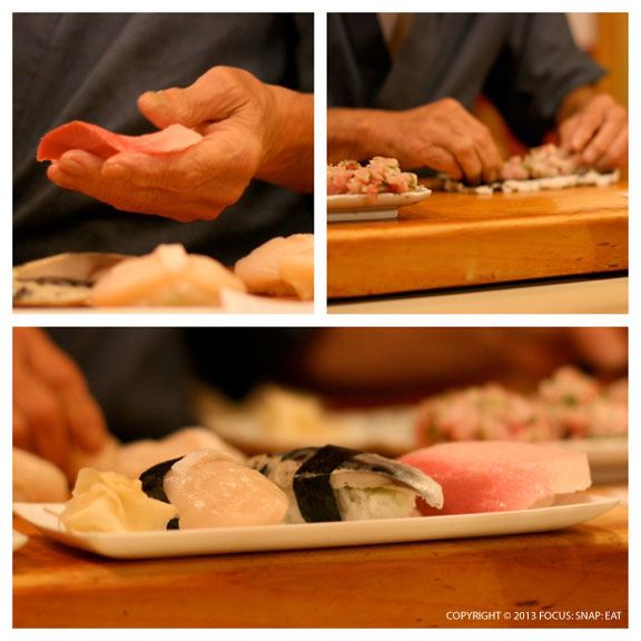 I had a front row seat of the sushi chef