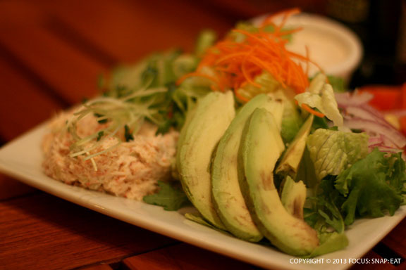The scoop of crab salad was the best part about the Crab N' Avocado Salad ($15.95)
