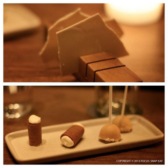 Although all the desserts seemed to come in shade of brown or beige, they were still delicious like the ice cream pops (bottom) and cream-filled cones.