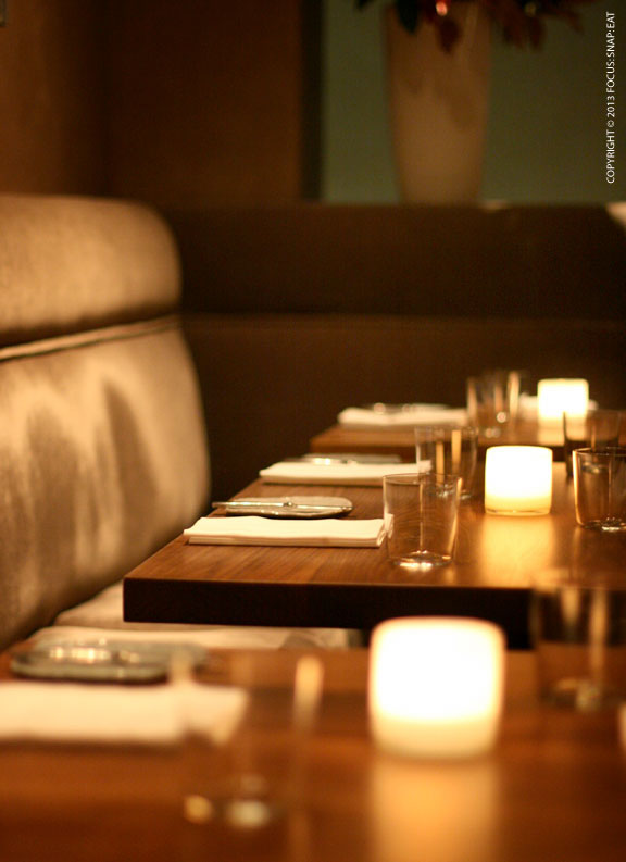The cozy dining room at Michael Mina in the Financial District.