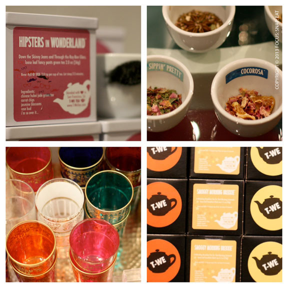 T-We Tea Shop has a fun and whimsical look and feel, including tea blend names