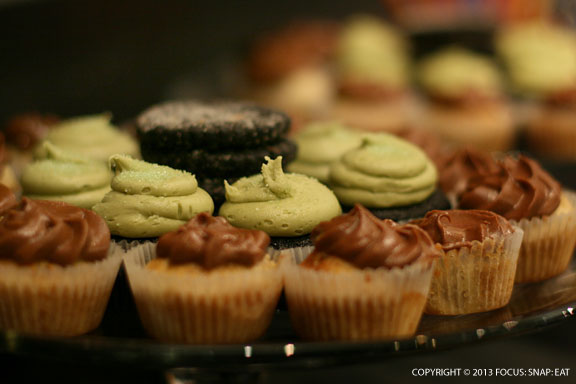 These treats by Black Jet Bakery greeted people to the special tea and milk event.