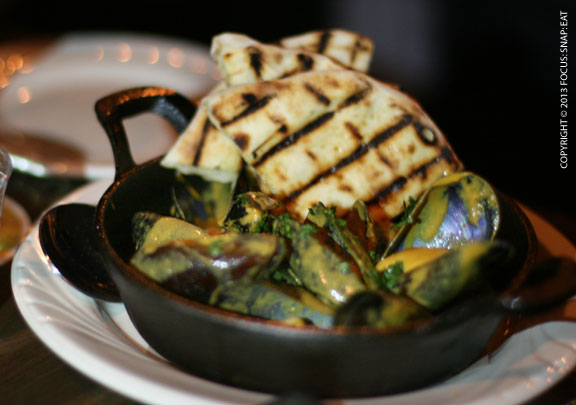 Mussels tikka masala, grilled flatbread, $15, was one of our favorite dishes but this Indian-influenced dish seemed like an anomaly on the menu of bar bites.