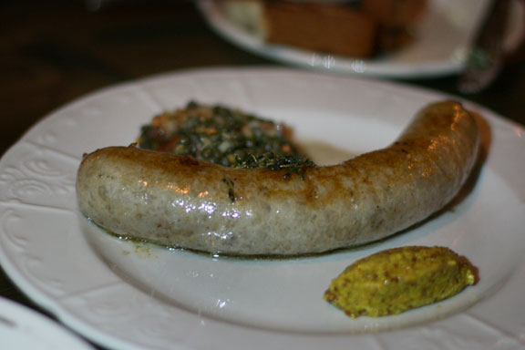 Toulouse sausage with lentils, mirepoix and bacon. Would you pay $23 for this?