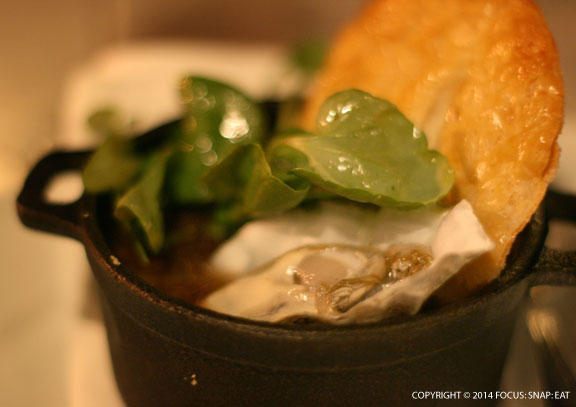Steak and oyster pie ($22) was intense with the beef cheeks but only had one oyster on the half shell.