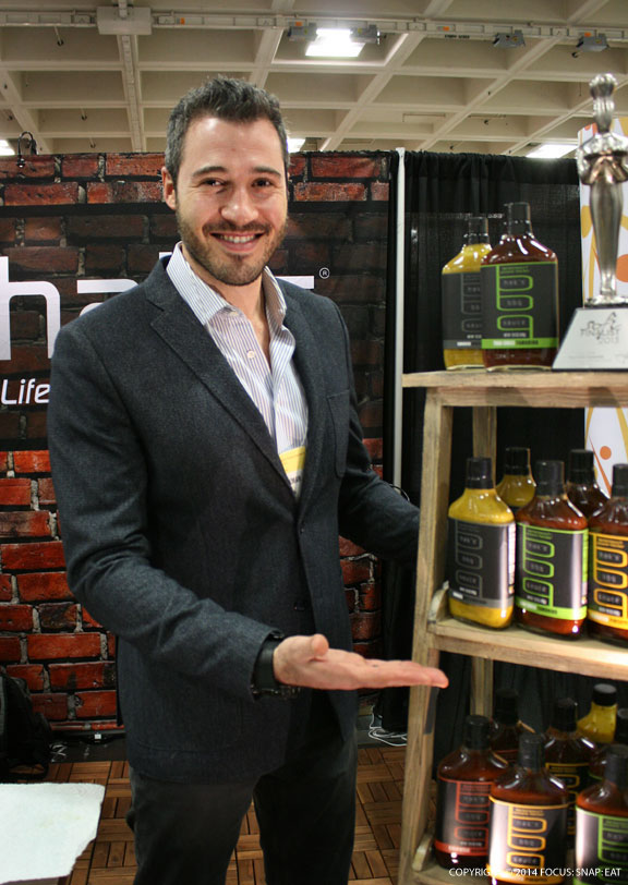 The Winter Fancy Food Show gives people a chance to meet the makers behind the products, such as LA Chef Sharone Hakman who developed his own line of spicy BBQ sauces.