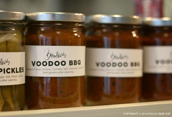You can also pick up a jar of Brenda's Voodoo BBQ sauce.
