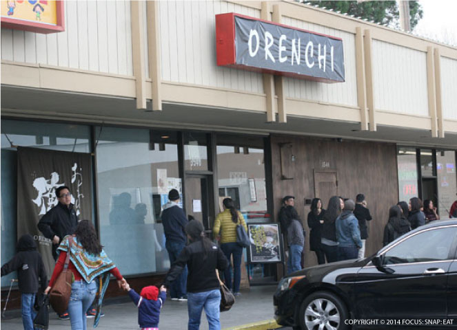 The crowds start to gather way before the doors open at Orenchi in Santa Clara.