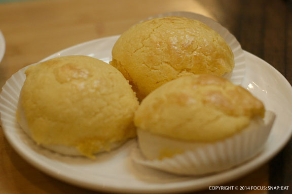 My favorite egg custard baked buns ($5.25). The interior is filled with a creamy egg custard.