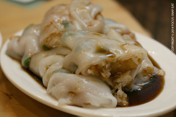 An unusual dish Tat ordered was fried filet of fish wrapped in rice noodles ($5.80)
