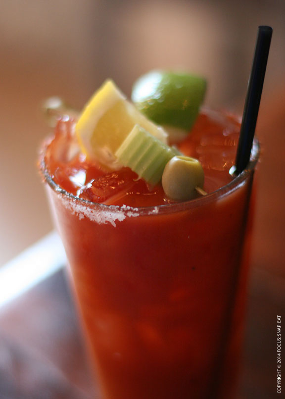 Started my brunch with a Bloody Mary/Maria ($8.50), a spicy mix of vodka and tequila