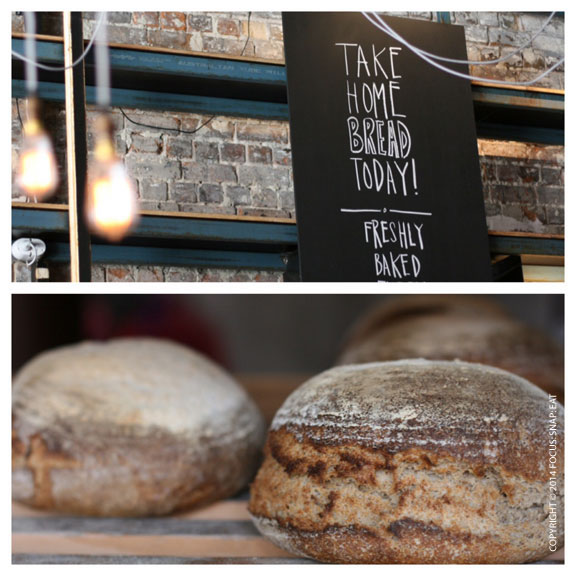 The funky decor highlighted the bread and the casual vibe of the space.