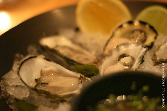 Oysters from Australia and Tasmania, but my absolute favorite were the oysters from Albany in Southwestern Australia. They were plump and creamy.