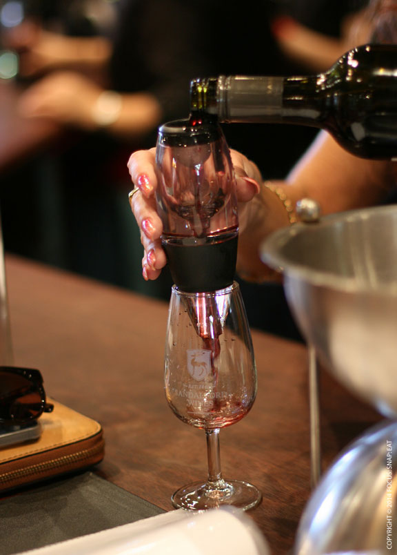 I like how they use an aerator when tasting the reds at Sandalford