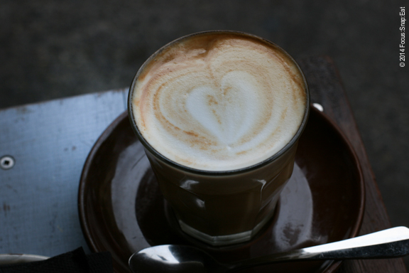 One of the many soy lattes I had in Australia. They're often served room temperature in a glass because it's so hot there.