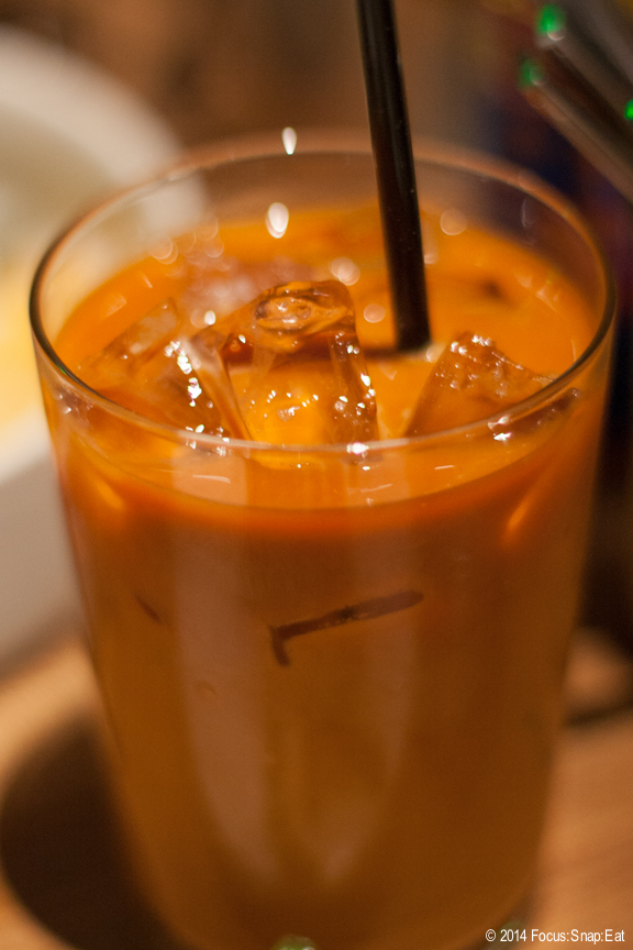 I love Thai iced tea and couldn't resist ordering one. Kin Khao's version was nice but not the No. 1 (as noted on the menu) in town. I've had just as good at other spots.